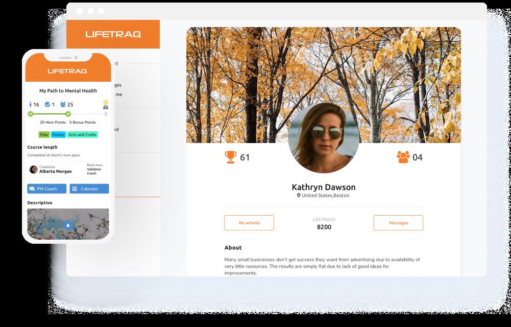 lifetraq mobile i desktop