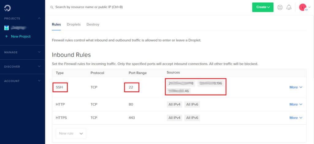 web app security - firewall settings